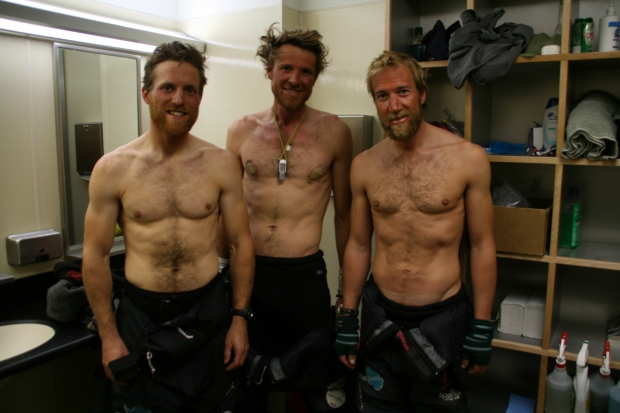 Ben Fogle, James Cracknell and Dr Ed Coats weight loss at race end
