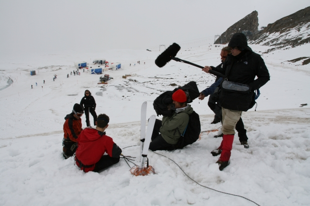 Filming James Cracknell and Ed Coats in Austria